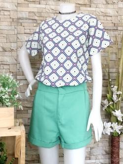 ส่ง:เช็ท2ชิ้นงานจีน/เสื้อลายดอกสดใส+กางเกง