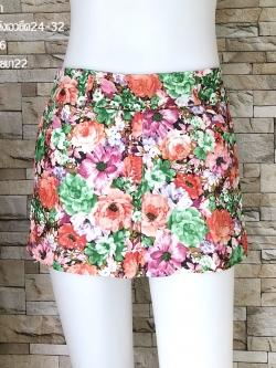 ส่ง:งานจีนกางเกงยีนส์ลายดอกสีสดใส/สม็อกหลังยืด24-32