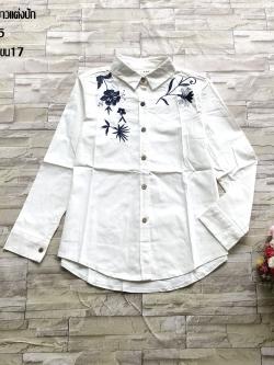 ส่ง:งานจีนเสื้อยีนส์ปกเชิ้ตกระดุมผ่าหน้าแต่งปักสวยๆ/อก36