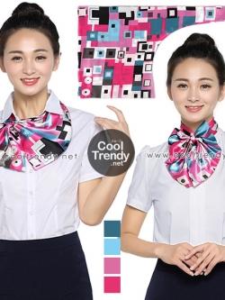 ผ้าพันคอสำเร็จรูป ผ้ายูนิฟอร์ม uniform ผ้าไหมซาติน : L049