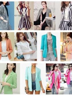 แพ็ค50ตัว:เสื้อสูทคลุมแฟชั่นจีน/จัดคละแบบคละสีคละไซส์มีเบิ้ลสี