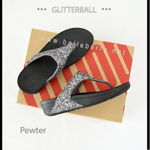 * NEW * FitFlop : GLITTERBALL : Pewter : Size US 6 / EU 37