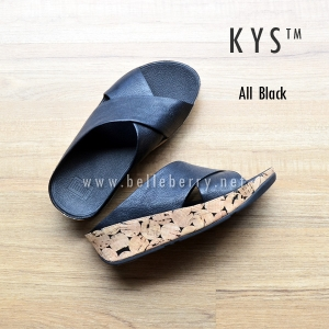** NEW ** FitFlop : : K Y S : : All Black : Size US 6 / EU 37