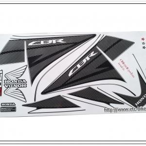 สติ๊กเกอร์ CBR150-R ปี 2013 รุ่น 9 ติดรถสีดำ