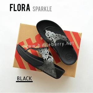 **พร้อมส่ง** รองเท้า FitFlop FLORA Sparkle : Black : Size US 5 / EU 36