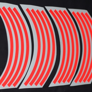 สติ๊กเกอร์ติดขอบล้อสีสะท้อนแสง ขอบ 12 นิ้ว