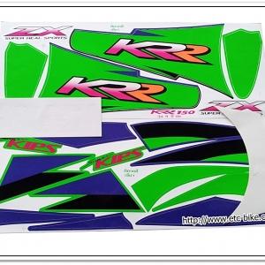 สติ๊กเกอร์ KR-ZX ปี 99 รุ่น 4 ติดรถสีเขียว