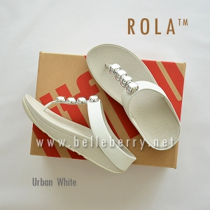 ** NEW ** FitFlop : ROLA : Urban White : Size US 5 / EU 36