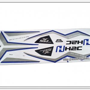 สติ๊กเกอร์ MSX-H2C ปี 2014 ติดรถสีขาว