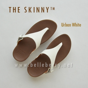 * NEW * FitFlop : The Skinny : Urban White : Size US 7 / EU 38