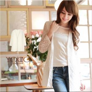 ♡♡pre-order♡♡ เสื้อคลุมผ้าลูกไม้สีขาวแขนยาว แต่งริมเสื้อด้วยห่วงสีทองหรูๆ ด้านหลังเป็นสายริบบิ้นผูกสวย น่ารักๆ สวยไฮโซมากๆ ค่ะ