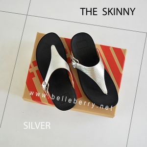 * NEW * FitFlop The Skinny : Silver : Size US 7 / EU 38