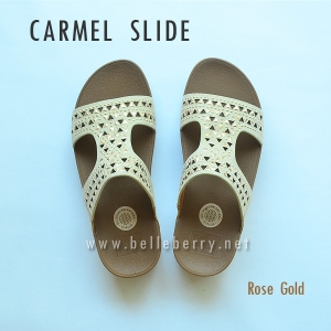 **พร้อมส่ง** FitFlop : CARMEL Slide : Rose Gold : Size US 8 / EU 39