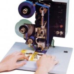 เครื่องพิมพ์วันที่แบบกึ่งอัตโนมัติ รุ่น HP-214B