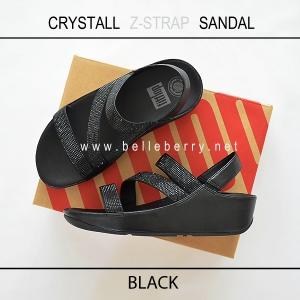 FitFlop CRYSTALL Z-STRAP Sandal : Black : Size US 7 / EU 38