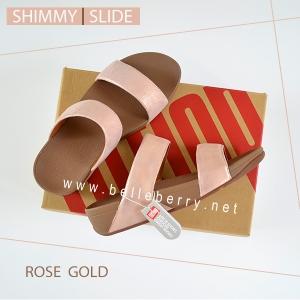 * NEW * FitFlop : Shimmy Slide : Rose Gold : Size US 9 / EU 41