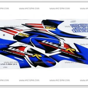 สติ๊กเกอร์ WAVE125-R ปี 2004 รุ่น 6 ติดรถสีน้ำเงิน