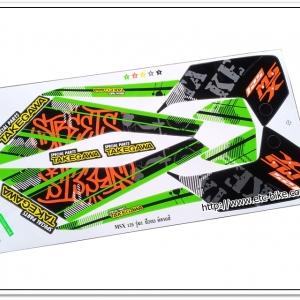 สติ๊กเกอร์ MSX-TAKEGAWA ติดรถสีเขียว