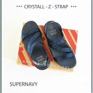 * NEW * FitFlop CRYSTALL Z-STRAP Sandal : Supernavy : Size US 7 / EU 38
