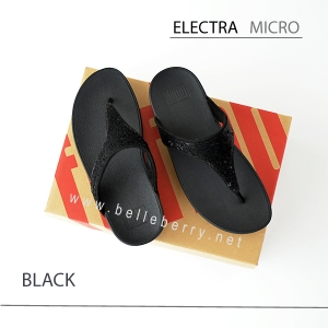 * NEW * FitFlop ELECTRA Micro : Black : Size US 6 / EU 37