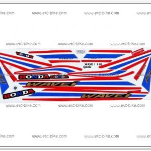 สติ๊กเกอร์ WAVE110-I ปี 2015 รุ่น 19 ลายธงชาติ