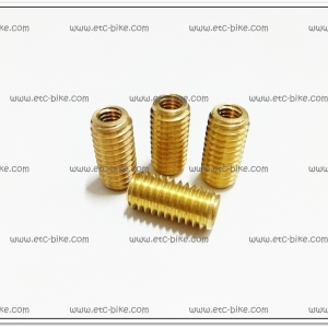 ทองเหลืองต๊าฟเกลียว #10 เกลียวใน 6mm. (4ตัว/ชุด)