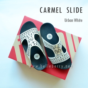 **พร้อมส่ง** FitFlop : CARMEL Slide : Urban White : Size US 7 / EU 38