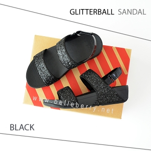 FitFlop : GLITTERBALL Sandal : Black : Size US 8 / EU 39