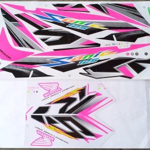 สติ๊กเกอร์ SONIC-2007 ลายแต่ง สีชมพู (สีแปลง)