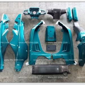 ชุดสีทั้งคัน CRYSTAL สีเขียวประกาย รวม 12 ชิ้น (สินค้าสั่งเบิกตามออเดอร์)
