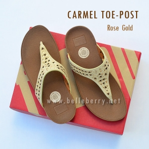 **พร้อมส่ง** FitFlop : CARMEL Toe-Post : Rose Gold : Size US 7 / EU 38