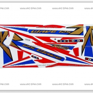 สติ๊กเกอร์ WAVE125-R ปี 2005 ดีสหลัง รุ่น 12 ลายธงชาติ