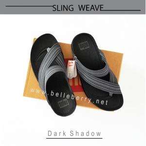 * NEW * FitFlop : SLING WEAVE : Dark Shadow : Size US 10 / EU 43