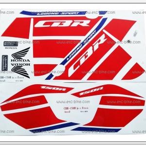 สติ๊กเกอร์ CBR150R ปี 2016 รุ่น 11 ติดรถสีขาว-แดง