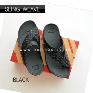 * NEW * FitFlop : SLING WEAVE : Black / Dark Shadow : Size US 10 / EU 43