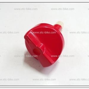 ลูกบิดก๊อกน้ำมัน TUXEDO สีแดงสด แท้ศูนย์