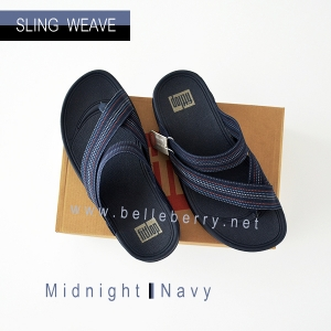 * NEW * FitFlop : SLING WEAVE : Midnight Navy : Size US 12 / EU 45