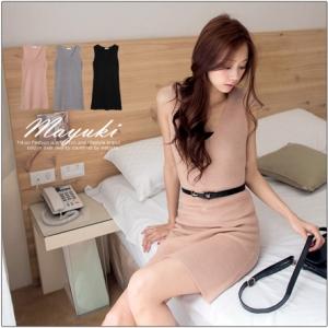 ♡♡Pre Order♡♡ ชุดเดรสคอวี ช่วงแขนกุด ผ้าเนื้อดีเน้นลายผ้านิตติ้งถัก สวมใส่สบาย น่ารักมากๆ ค่ะ