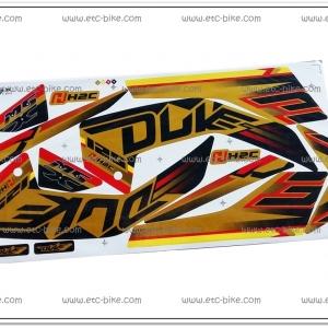 สติ๊กเกอร์ MSX-DUKE ปี 2015 สีทอง Limited
