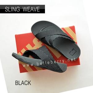 * NEW * FitFlop : SLING WEAVE : Black / Dark Shadow : Size US 9 / EU 42