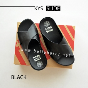 * NEW * FitFlop : KYS Slide : All Black : Size US 8 / EU 39