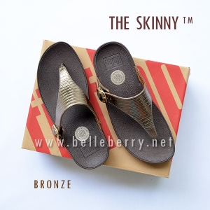 * NEW * FitFlop The Skinny : Bronze : Size US 6 / EU 37