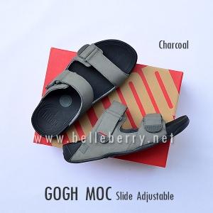 * NEW * FitFlop Men's : GOGH MOC Slide : Charcoal : Size US 9 / EU 42