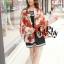 ผ้าพันคอแฟชั่นลายโซ่ Chiffon Chain : สีแดง : ผ้าพันคอ Silk Chiffon 160x60 cm thumbnail 3