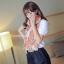 ผ้าพันคอแฟชั่นลายโซ่ Chiffon Coach : สีส้ม : ผ้าพันคอ Silk Chiffon - size 160x60 cm thumbnail 5