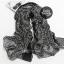 ผ้าพันคอลายเขาวงกต Maze Pattern : สีดำ- ผ้าพันคอ Cotton -170x70 cm thumbnail 6