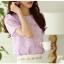 เสื้อทำงานสีม่วงผ้าลูกไม้แขนสั้นแฟชั่นน่ารักๆ thumbnail 10
