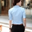 เสื้อเชิ๊ตผู้หญิงแขนสั้น สีฟ้า แฟชั่นสำหรับสาวออฟฟิศ thumbnail 5