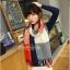 ผ้าพันคอ ผ้าคลุมพัชมีนา Pashmina scarf ลายตาราง size 200x60 cm - สี Red blue thumbnail 9