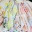 ผ้าพันคอวินเทจ Pastel scarf สีเหลืองม่วง - ผ้าพันคอ Viscose - size 180x110 cm thumbnail 8